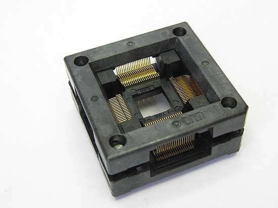Sensata 3012-080-06-08 open top 80 pin TQFP test socket.