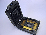 Yamaichi IC51-1284-976-1 Closed top, 128 Pin TQFP Package test socket